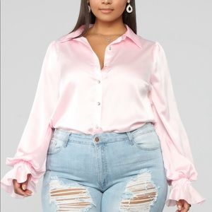 NWT Fashion Nova Button up Top